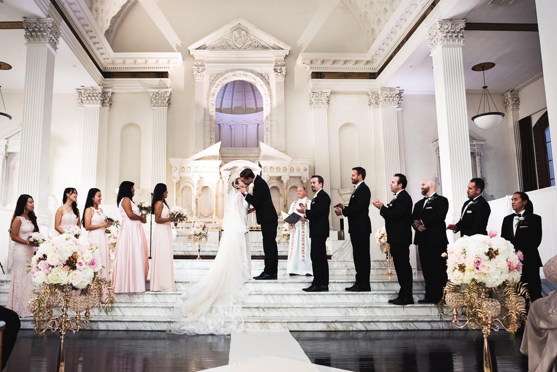 Vibiana Wedding Venue - Kissing The Bride