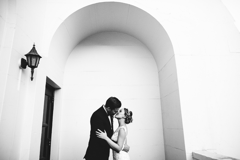 Vibiana Wedding Venue - Kissing After Ceremony