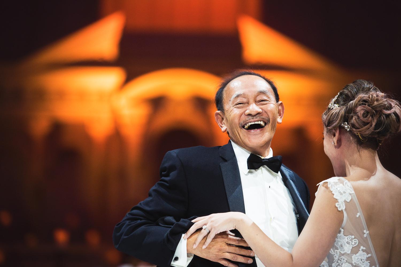 Vibiana Wedding Venue - Bride With Father