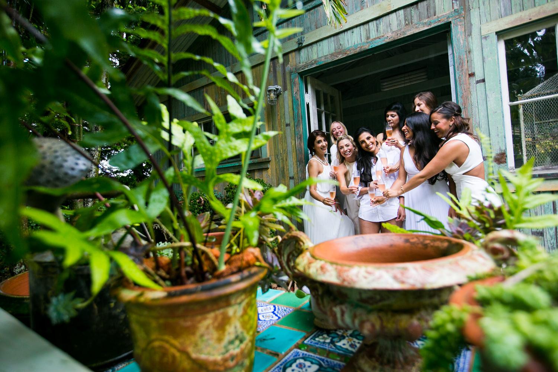 Getting Ready at Haiku Mill Wedding in Maui Hawaii