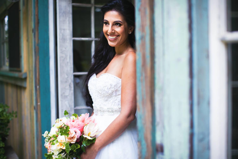 Monique Lhuillier dress at Haiku Mill Wedding in Maui Hawaii