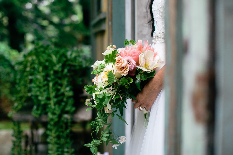 Flowers at Haiku Mill Wedding in Maui Hawaii
