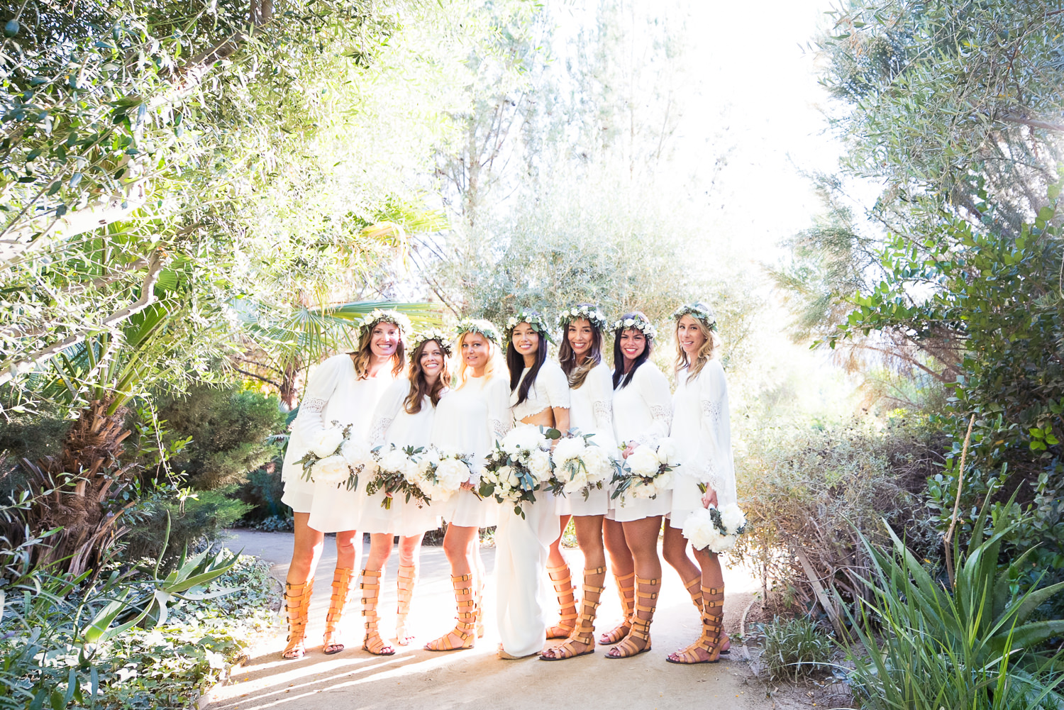 Parker Palm Springs Wedding - Bridal Party Outside