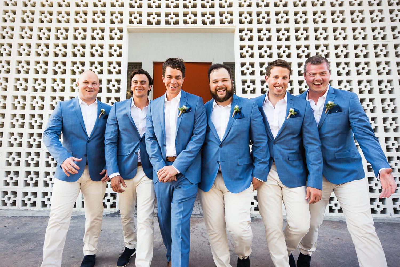 Parker Palm Springs Wedding - Great Shot Of Groomsmen