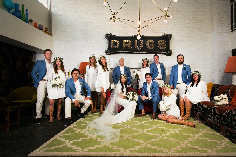 Parker Palm Springs Wedding - Portrait Shot Of Whole Wedding Group