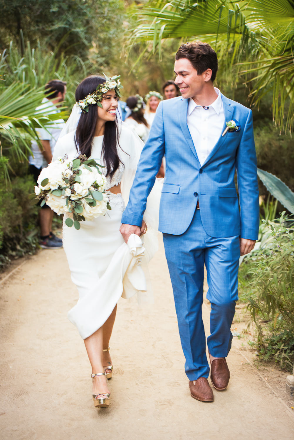 Parker Palm Springs Wedding - Hand in Hand After Ceremony