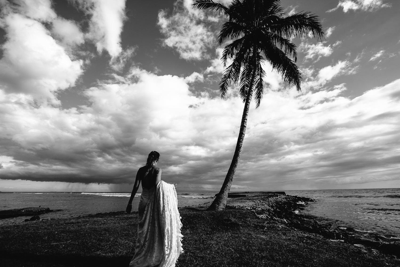 Olowalu Plantation House wedding - Bride in beautiful white dress