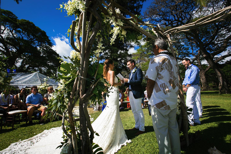 Olowalu Plantation House wedding ceremony
