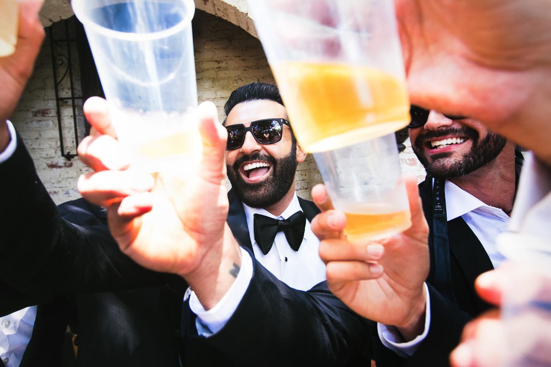 Hummingbird Nest Ranch Wedding - Persian Groom Having A Drink