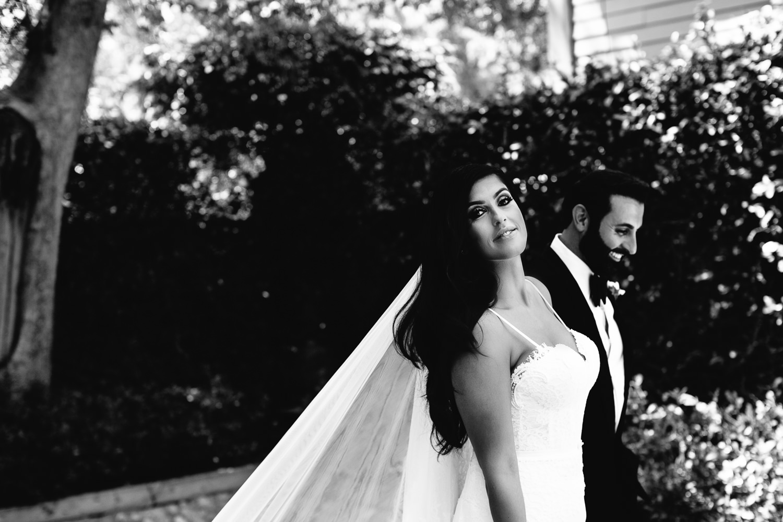Hummingbird Nest Ranch Wedding - Persian Bride With Groom