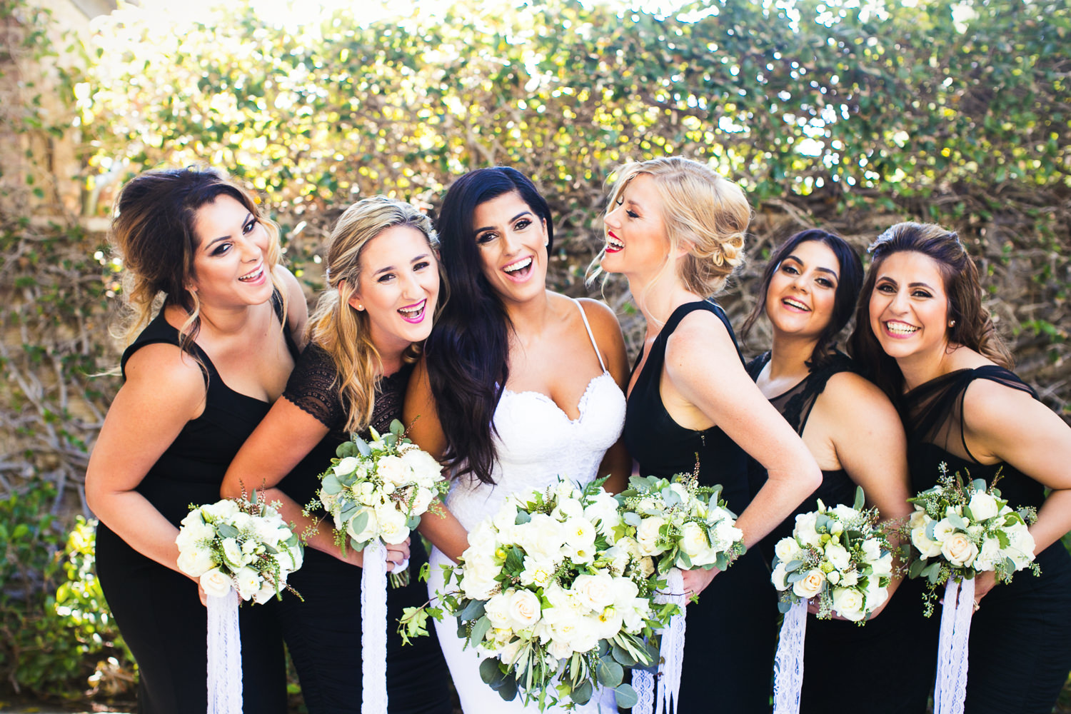 Hummingbird Nest Ranch Wedding - Persian Bride With Bridal Party