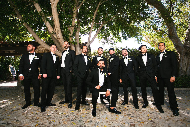 Hummingbird Nest Ranch Wedding - Persian Groomsmen Portrait