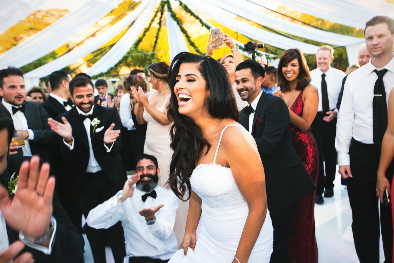 Hummingbird Nest Ranch Wedding - Happy Persian Bride