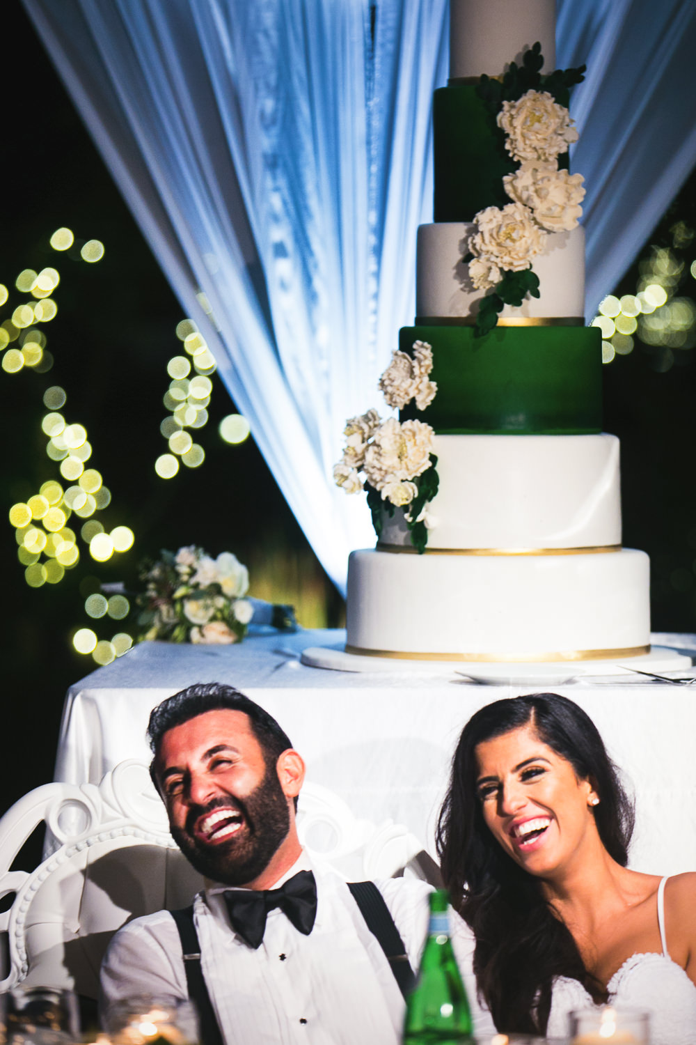 Hummingbird Nest Ranch Wedding - Persian Couple With Cake