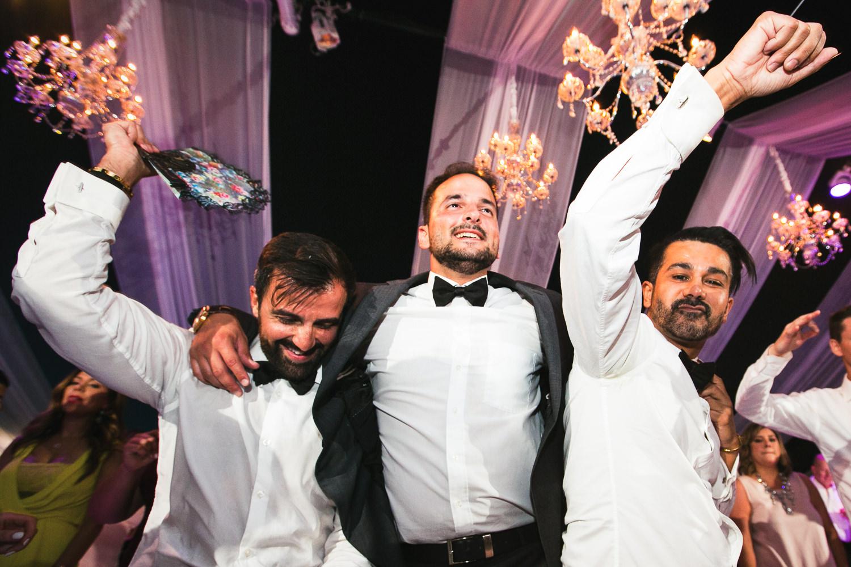Hummingbird Nest Ranch Wedding - Persian Groom With Groomsmen Dancing