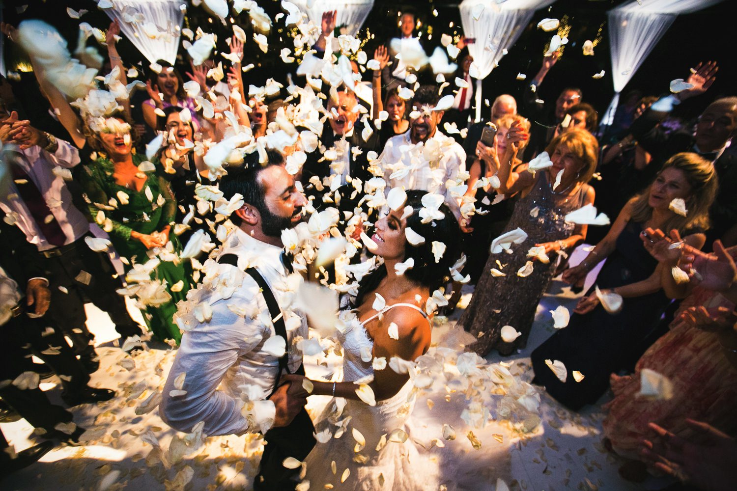 Hummingbird Nest Ranch Wedding - Persian Couple Hit With Confetti