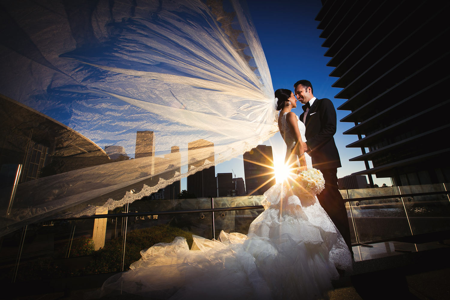 City Club Los Angeles wedding photo at LADWP