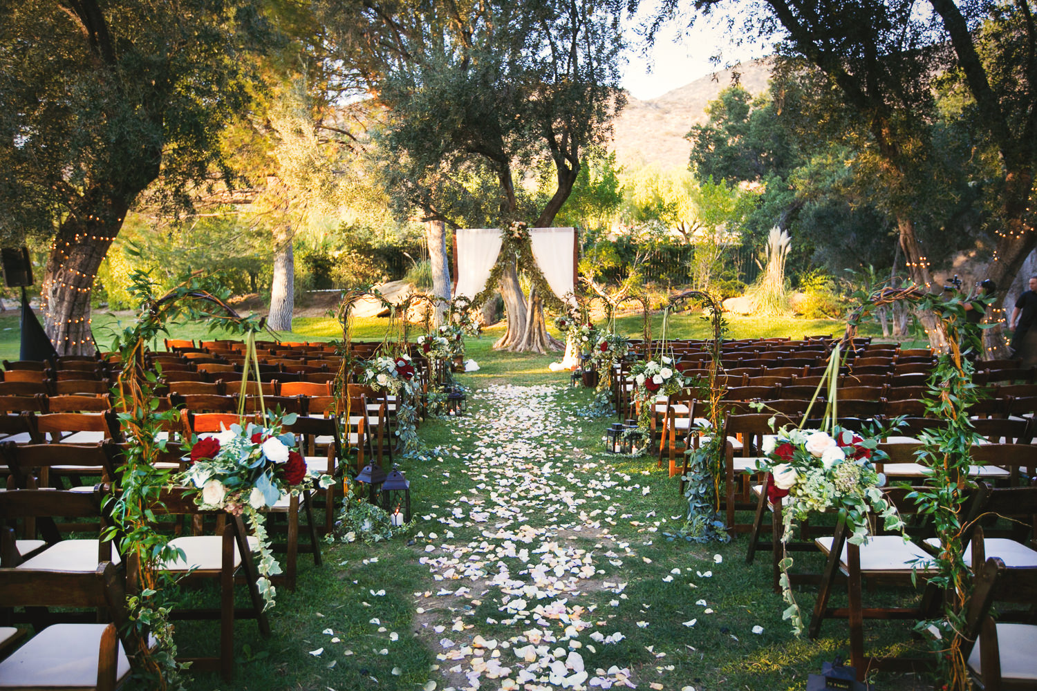 Wedding ceremony designed and planned by Stacy Porras at Hummingbird Nest wedding by Callaway Gable