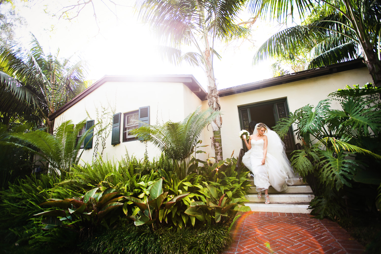 Four Seasons Santa Barbara Wedding - Bride with Flowers