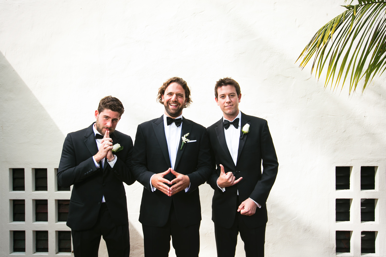 Four Seasons Santa Barbara Wedding - Groomsmen Portrait