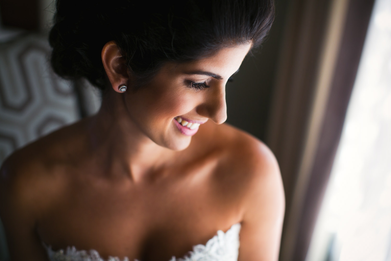 Persian bride getting ready for her wedding at Solage in Napa Valley