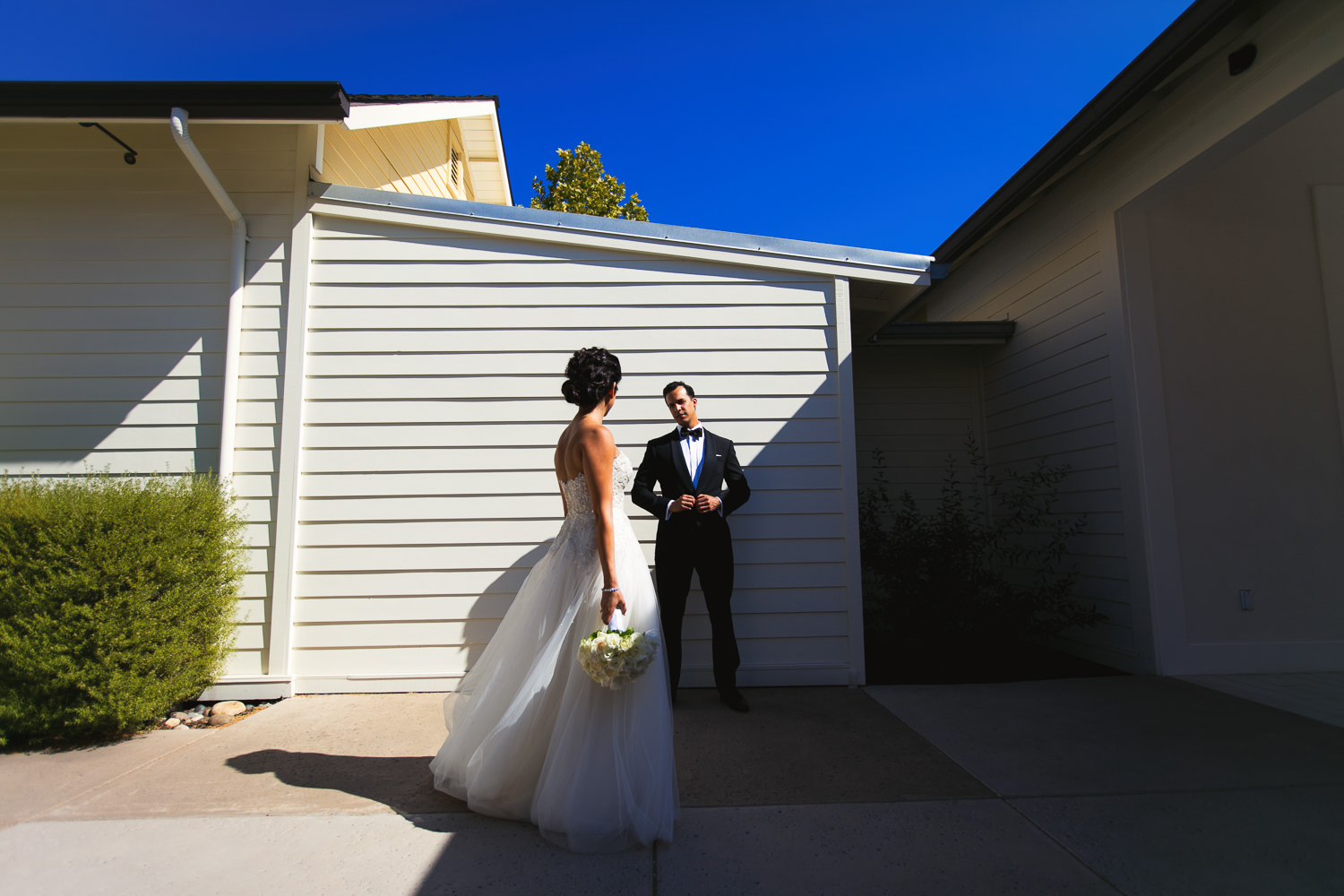 The Spa at Solage in Napa Valley is a great place for wedding portraits