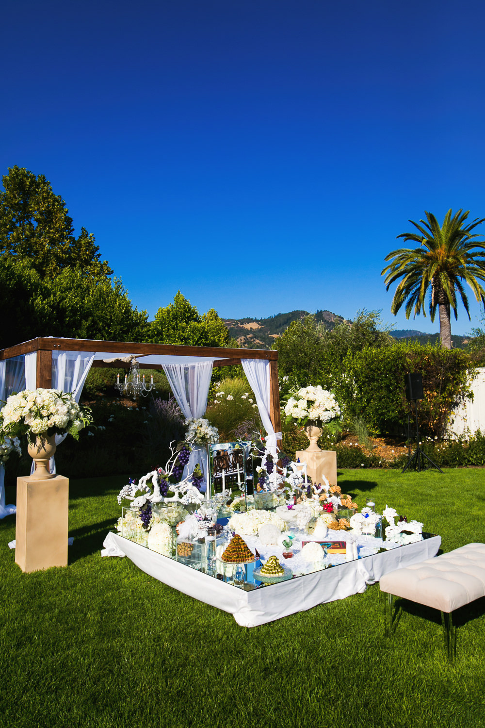 Traditional Sofreh setup for Persian Ceremony at Solage