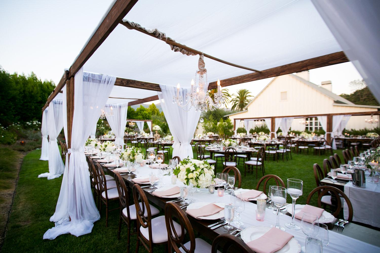 Dinner setting for Solage wedding