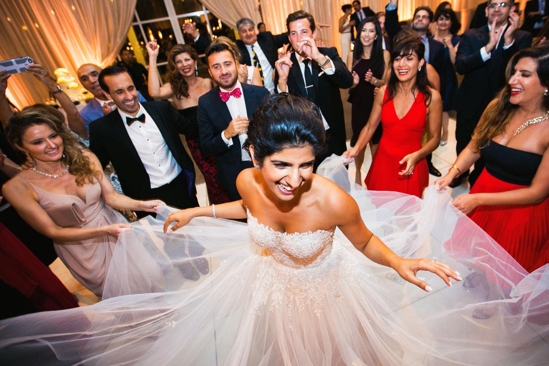 Persian wedding reception at Solage Resort