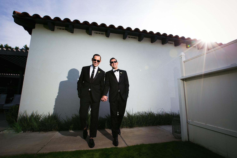Same Sex Avalon Palm Springs Wedding - Together Holding Hands