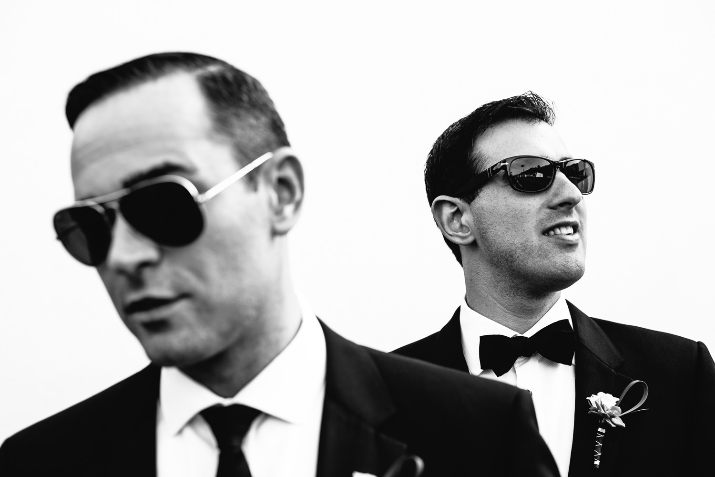 Same Sex Avalon Palm Springs Wedding - Portrait Black And White Shot