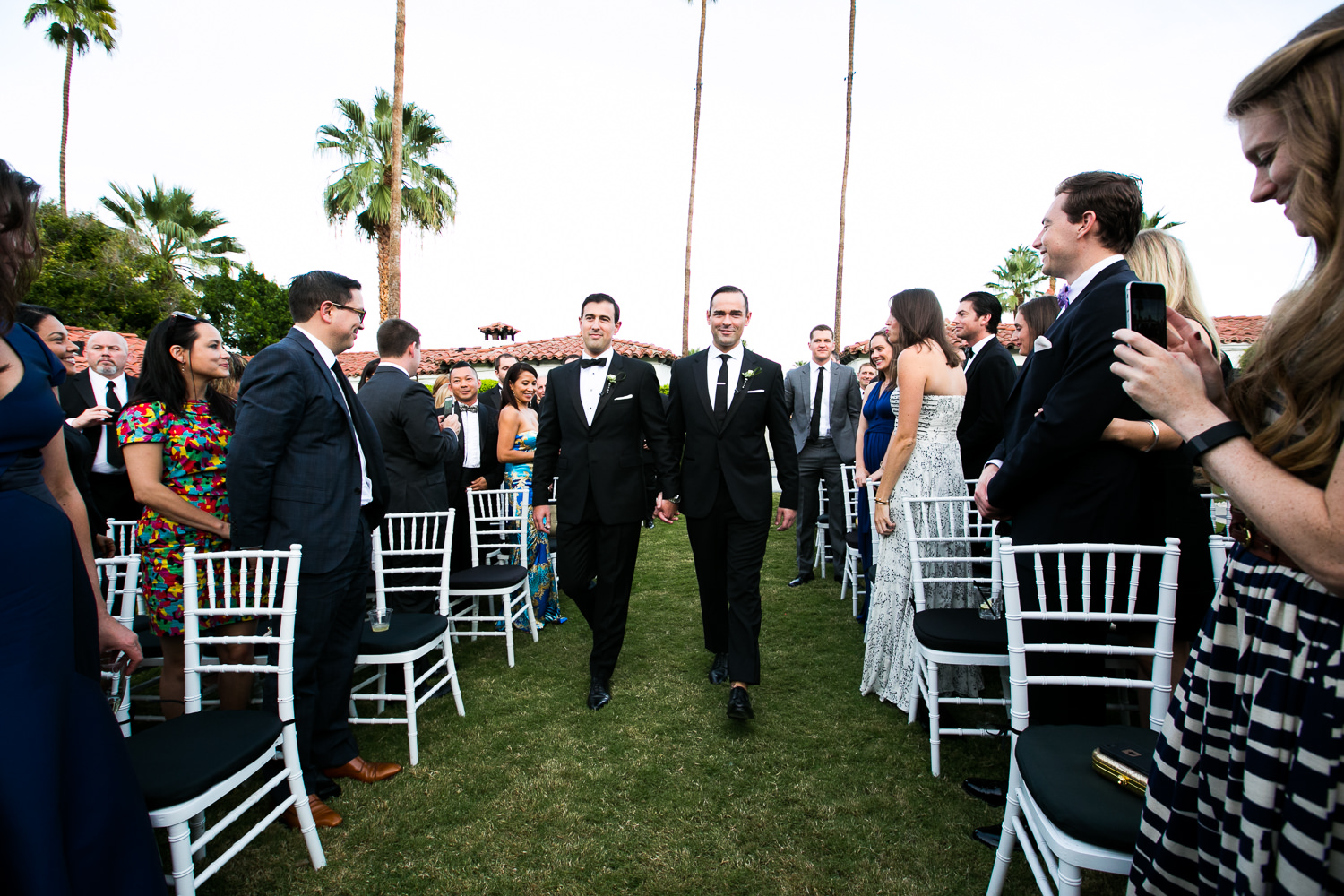 Same Sex Avalon Palm Springs Wedding - Walking The Aisle Together