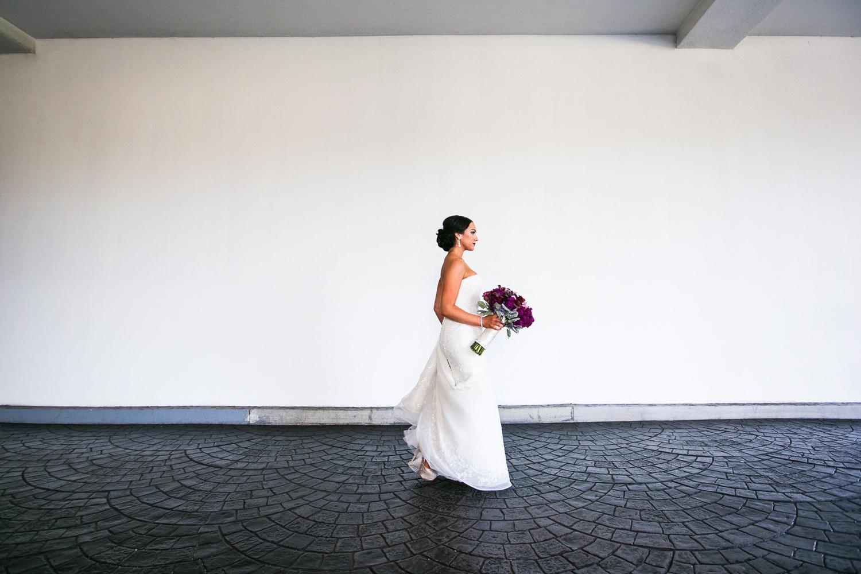 SLS Beverly Hills Wedding - Bride with Flowers