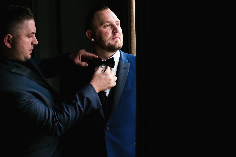 SLS Beverly Hills Wedding - Groom Getting Ready