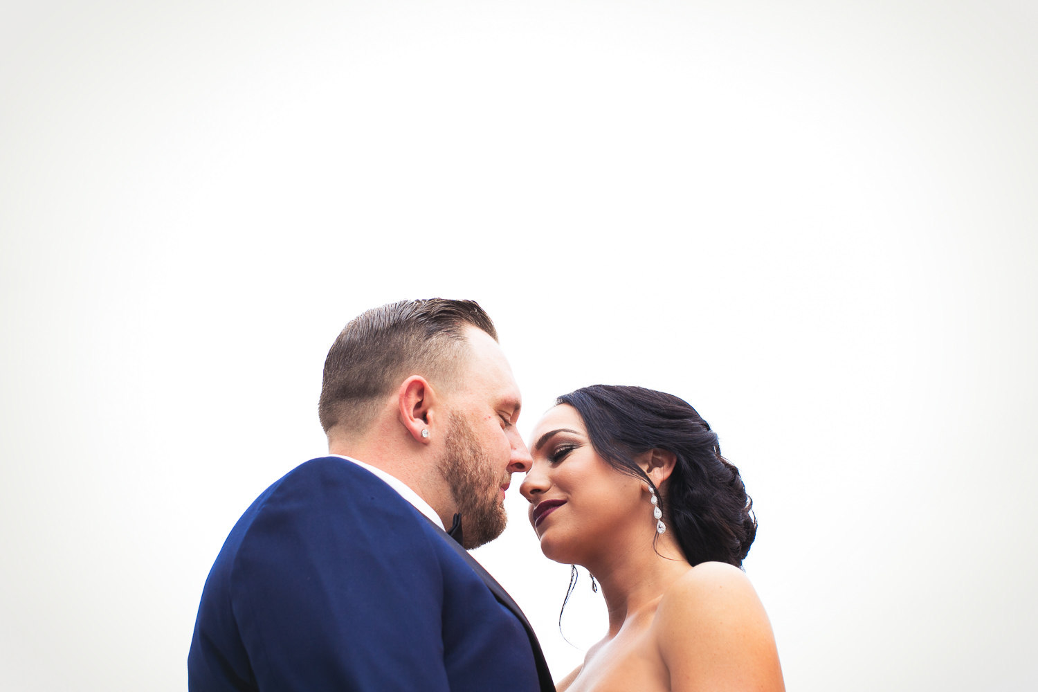 SLS Beverly Hills Wedding - Bride and Groom About To Kiss