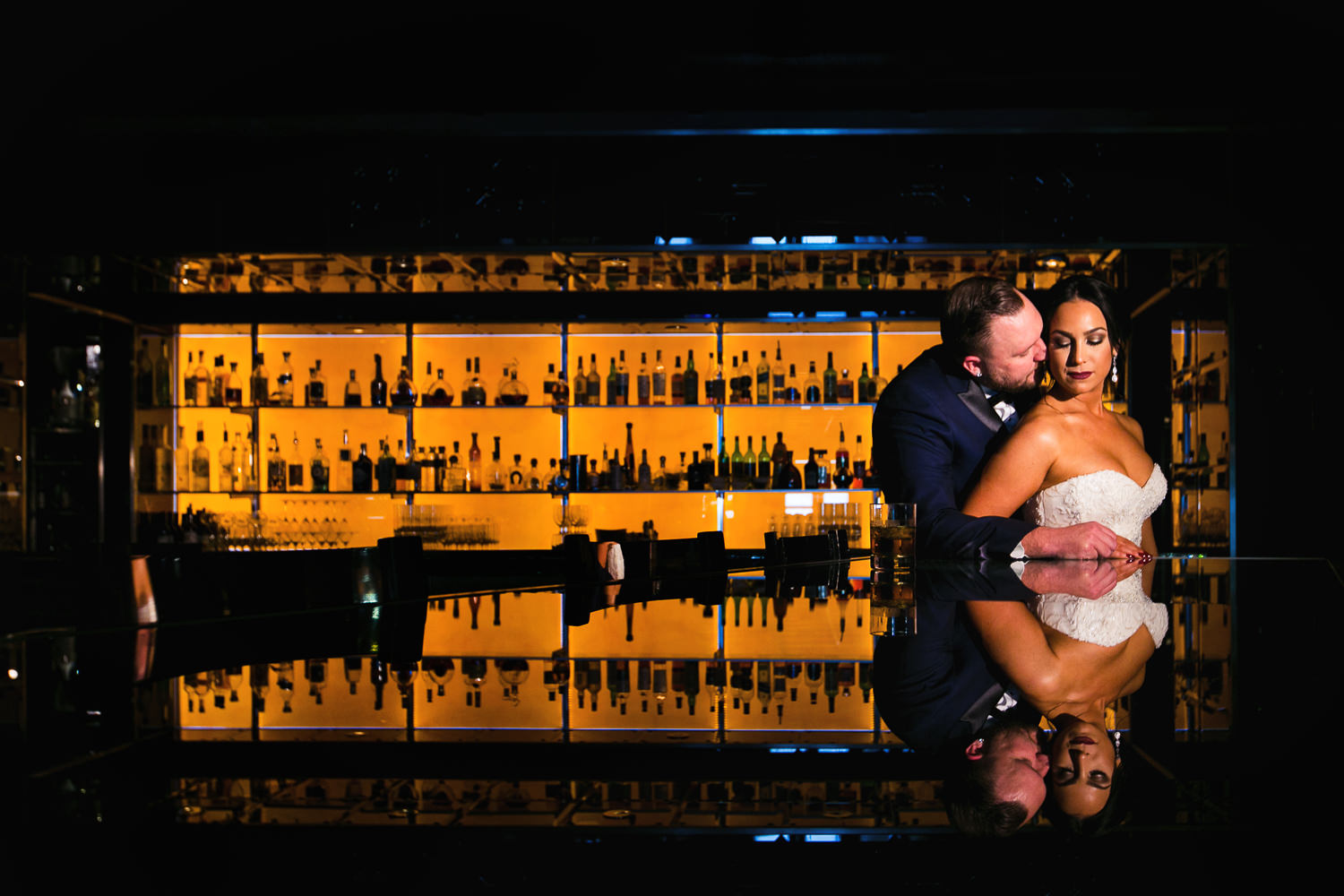 SLS Beverly Hills Wedding - Embracing By The Bar