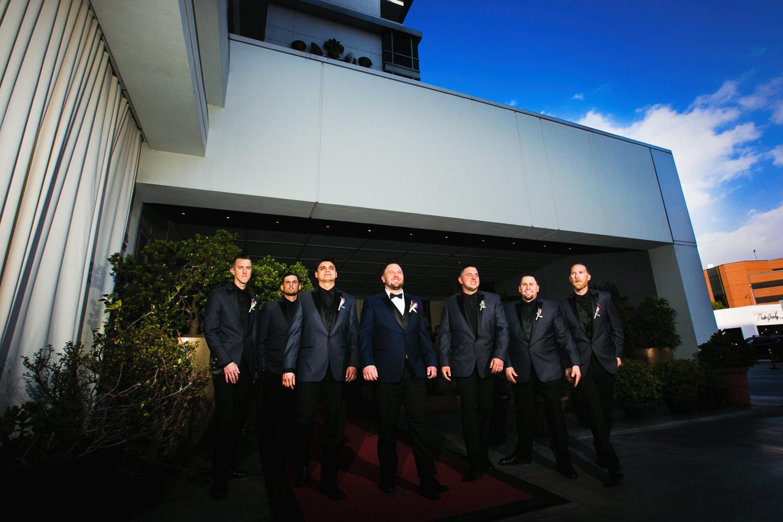 SLS Beverly Hills Wedding - Groomsmen Portrait