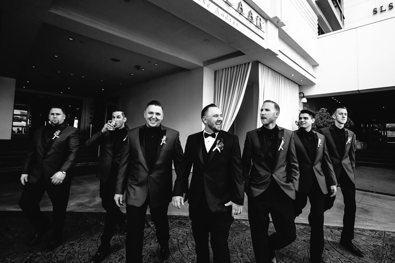 SLS Beverly Hills Wedding - Classy Groomsmen