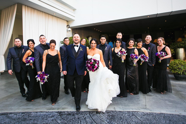 SLS Beverly Hills Wedding - Groomsmen and Bridesmaids
