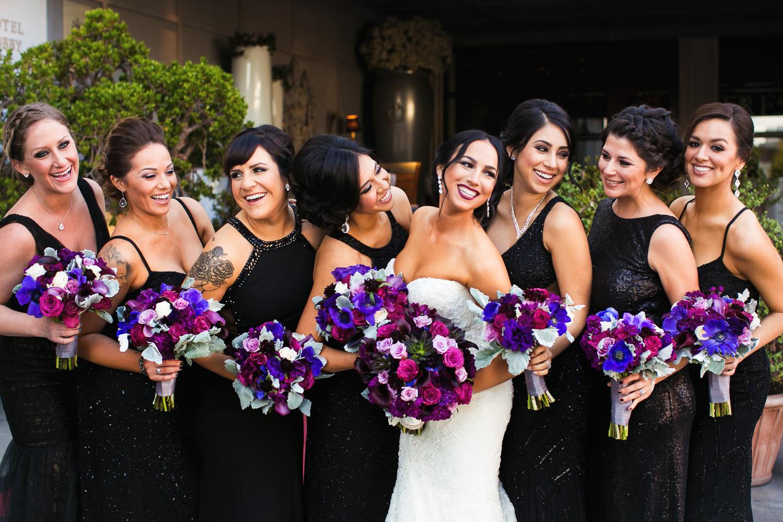 SLS Beverly Hills Wedding - Bridal Party