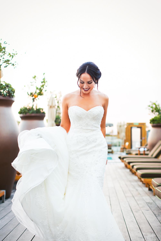 SLS Beverly Hills Wedding - Bride in Dress