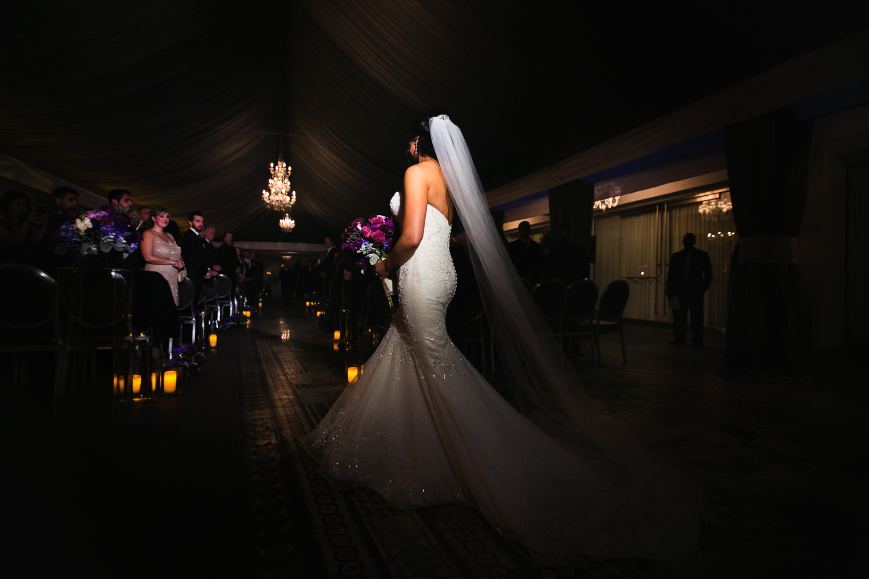 SLS Beverly Hills Wedding - Bride In Full Dress