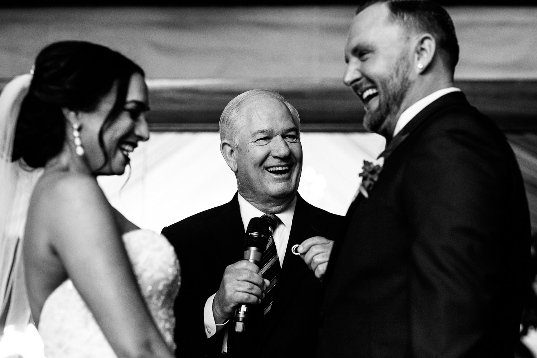 SLS Beverly Hills Wedding - Happy Couple Taking Vows