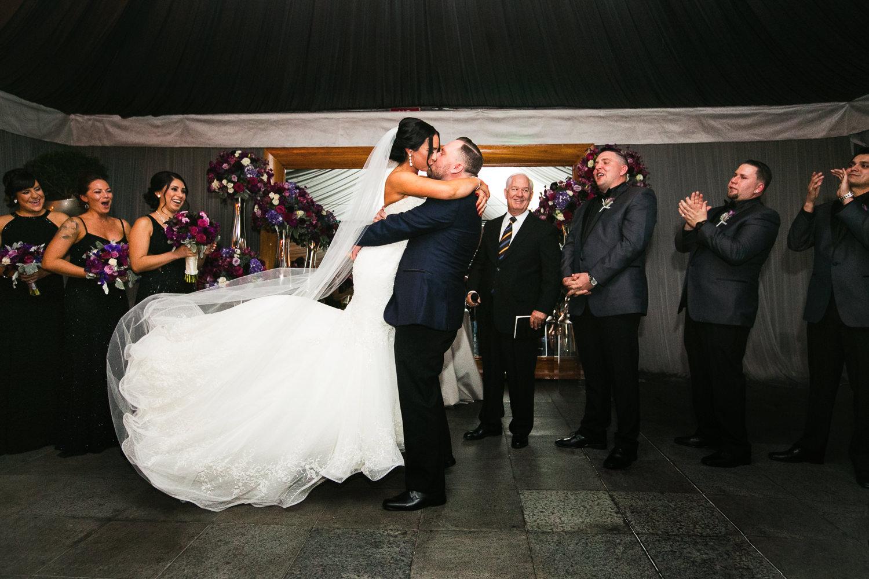 SLS Beverly Hills Wedding - Kissing the Bride