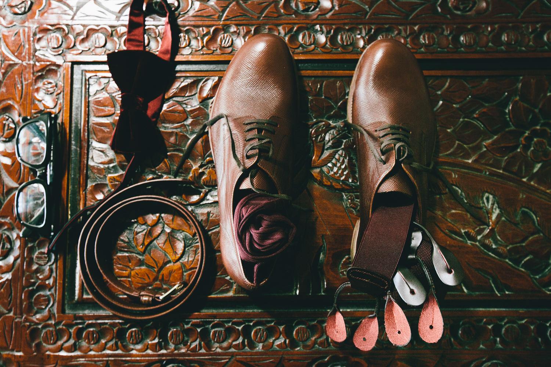 Los Olivos Wedding - Grooms Accessories