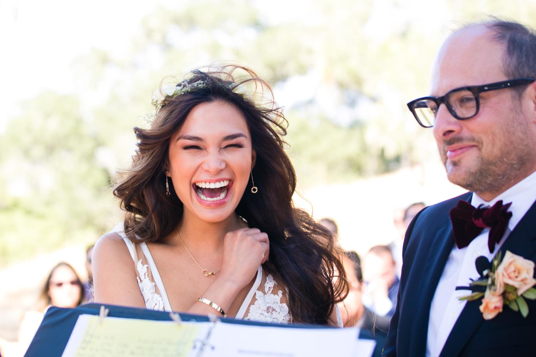 Los Olivos Wedding - Laughing Happy Bride