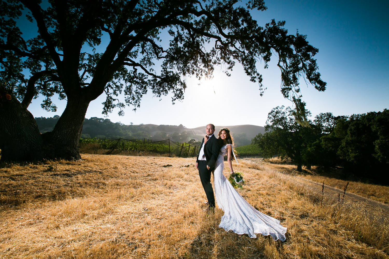 Los Olivos Wedding - Pretty Bride and Groom Newly Married