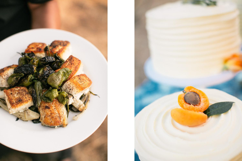 Los Olivos Wedding - Wedding Reception Food and Desert