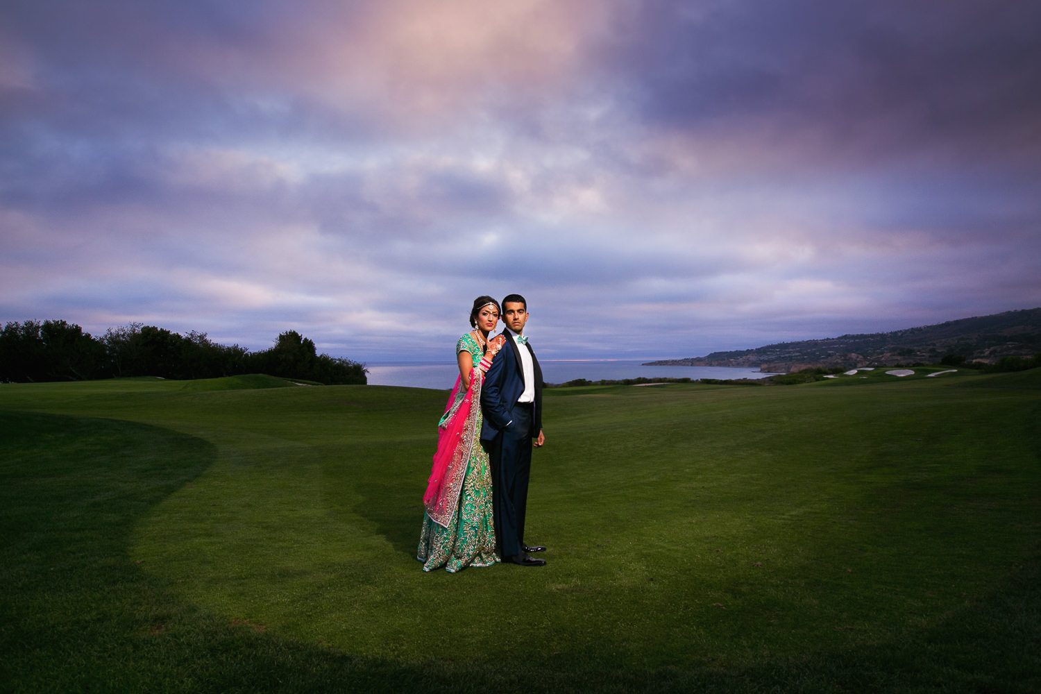 Trump National Golf Club Wedding - Embracing On the Golf Course