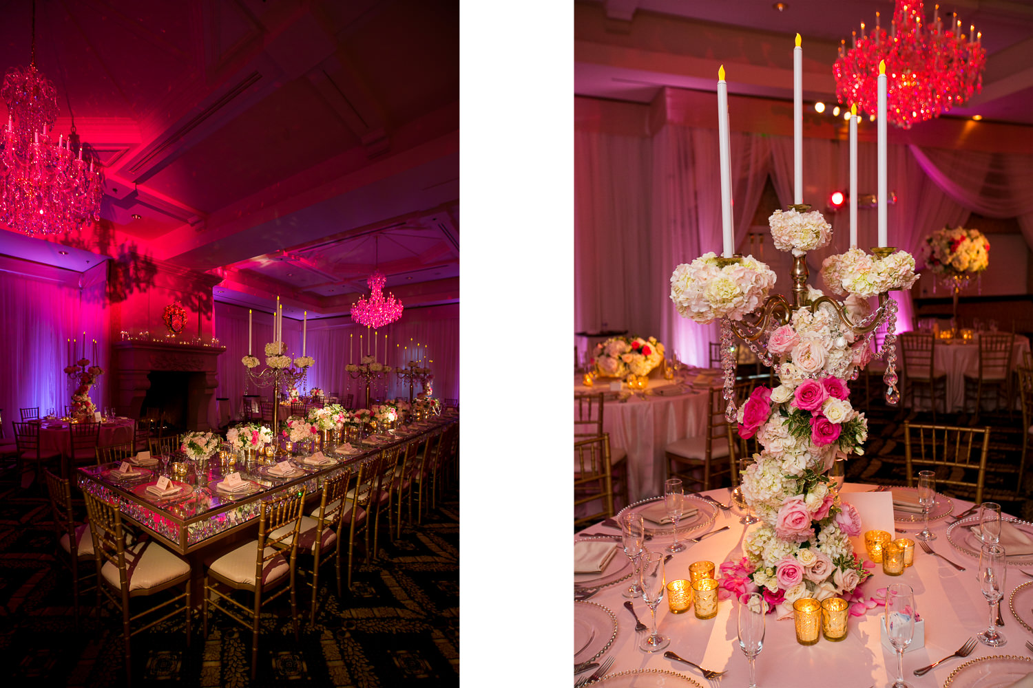 South Asian Trump National Golf Club Wedding - Wedding Reception Decor